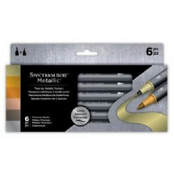 Crafters Companion Spectrum Noir Metallic Markers (6pk) - Rare Minerals